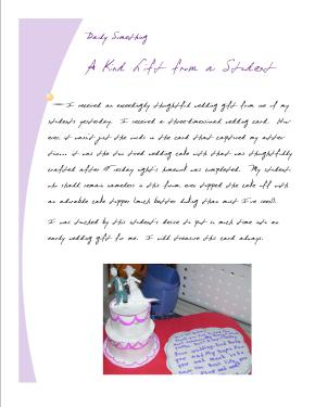 Card and Wedding Cake