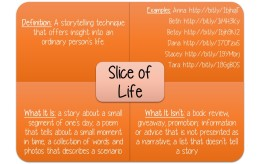 Are you wondering what a slice of life story is? Click on this image to enlarge & to learn more.