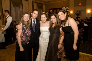 Stacey, Marc, Me, Lori, & Rachel on the Dance Floor at My Wedding (Photo by Zlatko Batistich)