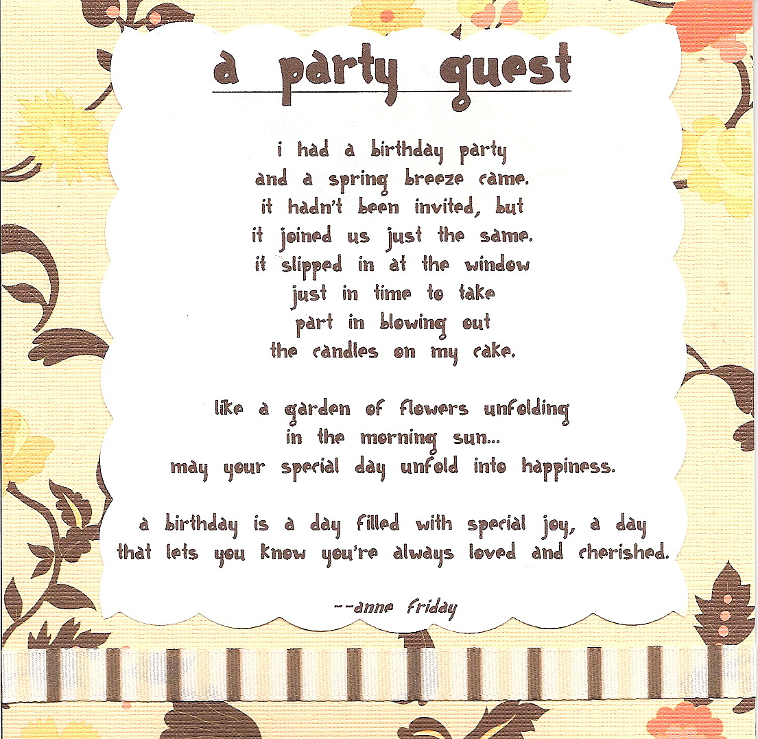 Birthday Poems For Kids 1