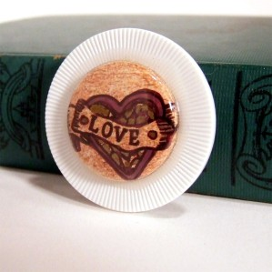 Lucky Poker Chip Brooch by KisforCalligraphy