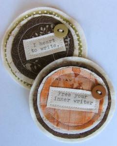 Sophie Isobel Designs: Two Fabric Brooches Made in Australia