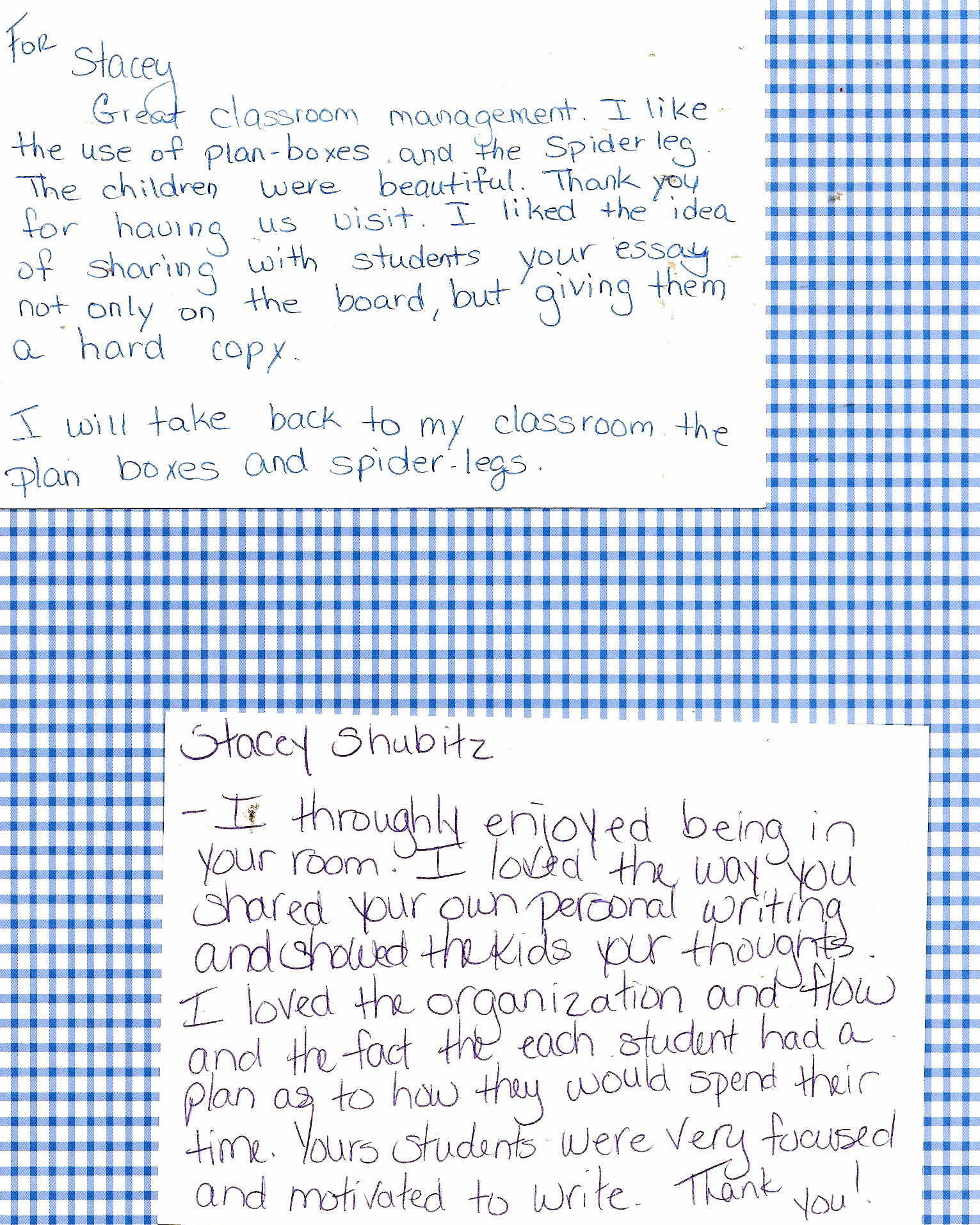 Thank you for the thank you note two writing teachers click to enlarge aljukfo Choice Image