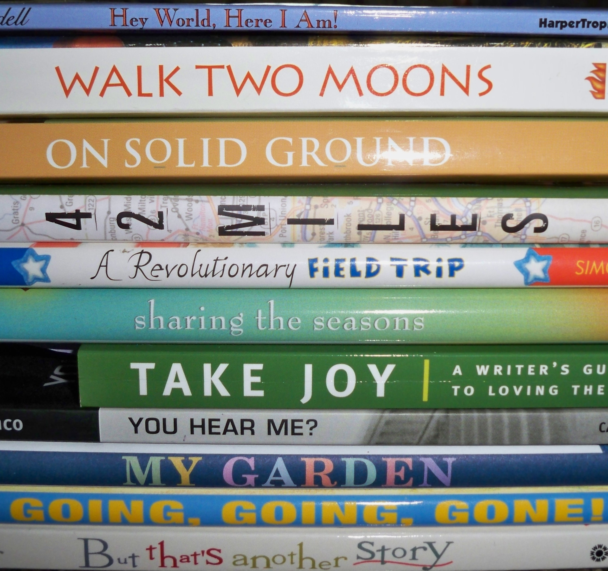 a book spine poem two writing teachers stacey s book spine poem hey world here i am walk two moons