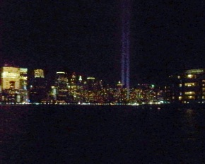 A view of Lower Manhattan on Sat., 9/11/10 from Jersey City, NJ.