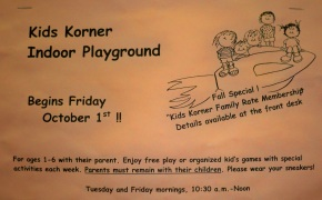 "Why is there an 's in the word kids?  This is incorrect.  It should be ""Enjoy free play or organized kids games..."""