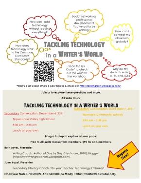 Tech Workshop Flier