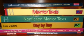 Mentor Author, Mentor Texts is the required reading for the course I'm teaching.  My students will pick one of the other books to read as part of a professional literature circle.