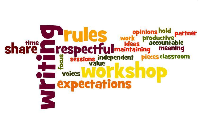 Creative writing workshop rules