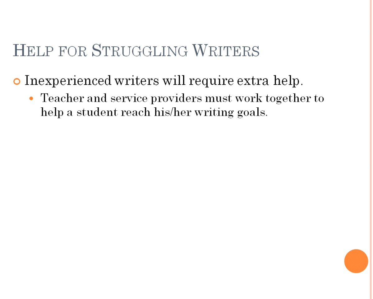 Help for writers