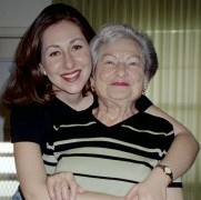 Hugging my grandmother in 2003.  (She passed away in 2007.)