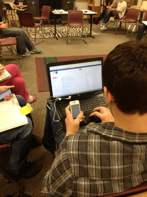 A 21st century research process in a middle school classroom.