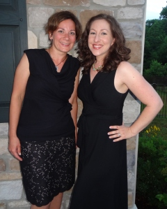 Ruth and I posed for a couple of pics last night after dinner.