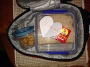 A note in the lunchbox is always a nice surprise.