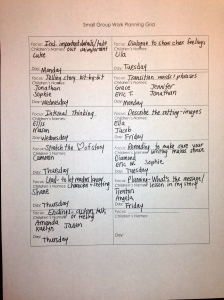 This planning grid helps me pull students together who have similar individual needs.