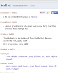 """Kvell."" Merriam-Webster.com. Merriam-Webster, n.d. Web. 17 Mar. 2014. . (Click on the image to enlarge.)"