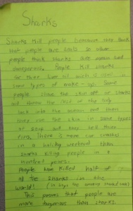 A second grader's book club post-it
