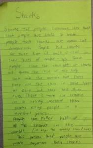 A second grader's book club post-it