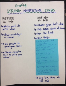 Book Clubs Teaching Chart