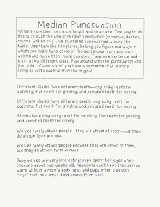 Median Punctuation Task Card -- Click on the image to enlarge.
