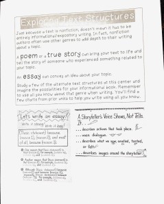Exploring Text Structures Task Card -- Click on the image to enlarge.