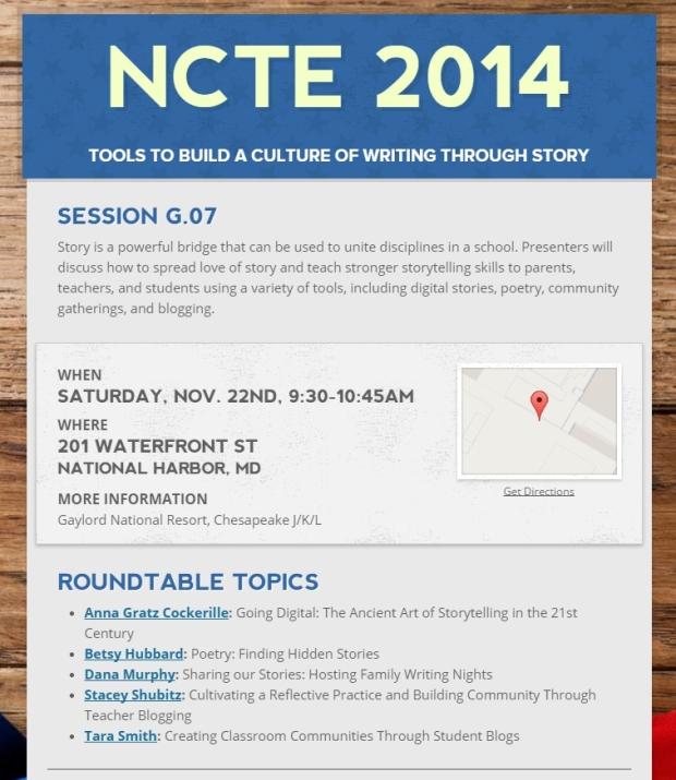 #NCTE14 Session G.07