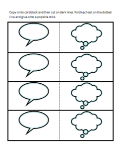 Speaking and Thinking Bubble Visuals