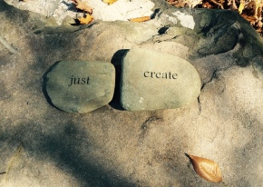 Highlights Foundation Poetry Garden Rocks