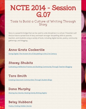 Tools to Build a Culture of Writing Through Story