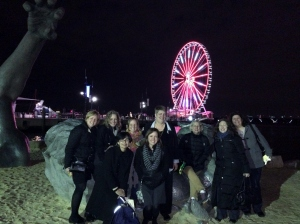 Several of us hung out by the Awakening on the beach at National Harbor after dinner.