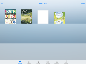 So far I only have four picture books on my iPad. I'm thinking about buying a few more.