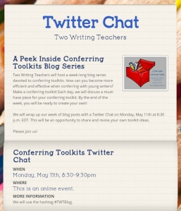 Click on the image for more information about the Twitter Chat.