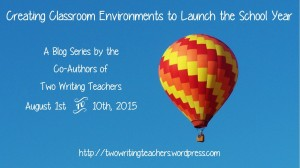Classroom Environments Blog Series - #TWTBlog