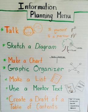 information planning menu
