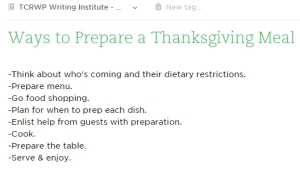 ways to prep tgiving meal