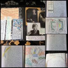 Taras writing notebook