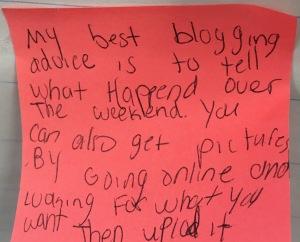 blogging post it
