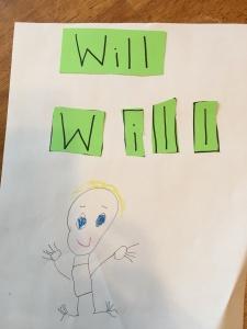 Will k writing