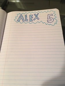 alex notebook page