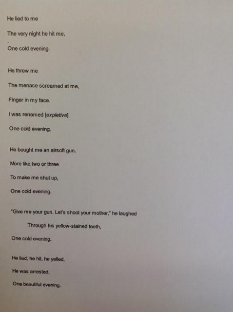 Student poem