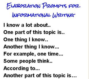 Elaboration Prompts