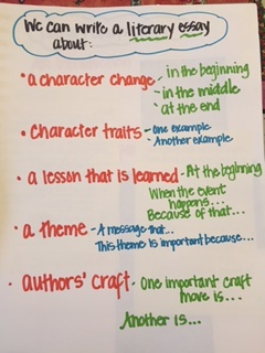 literary essays setting the stage two writing teachers at this point most students are ready to plan their essays again i give them a chart of how to do it and examples of what the work might look like