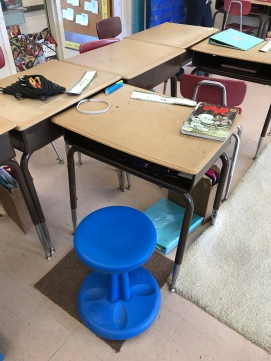 Wobble chairs provide kids with constant movement.