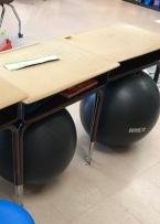 Yoga balls help kids bounce.