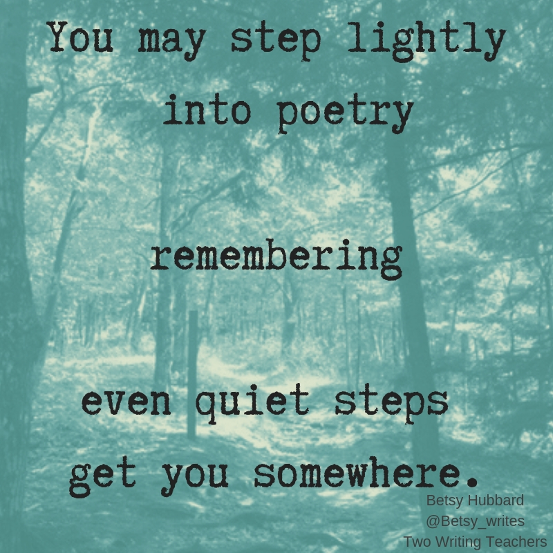 Stepping Toward Poetry