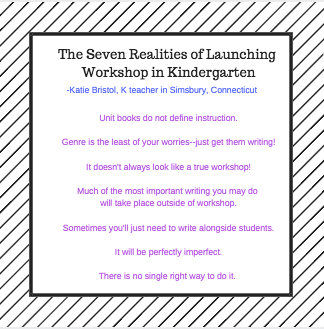 Seven Realities of Launching Workshop in Kindergarten