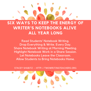 Six Ways to Keep the Energy of Writer's Notebooks Alive All Year Long