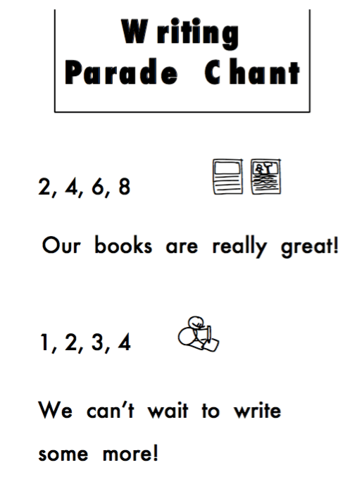 Writing Parade Chant #TWTBlog