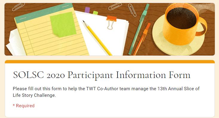 Participant Information Form #SOL20