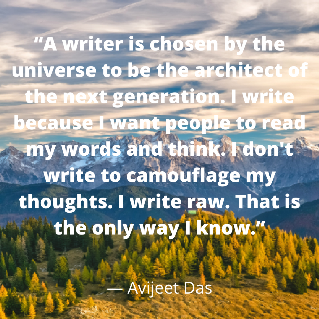 A writer is chosen by the universe